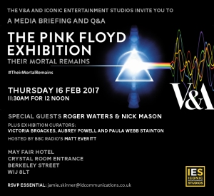 Pink Floyd Exhibition - their mortal remains poster